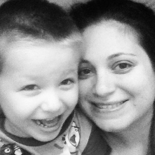 #latergram happy pic of me & Z yesterday morning when he woke me up :)