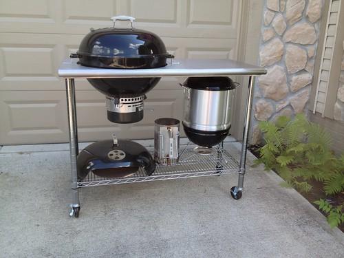 115 weber kettle cart the bbq brethren forums. Black Bedroom Furniture Sets. Home Design Ideas