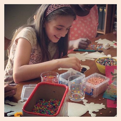 Still loving the Hama beads. I've left them to it.... The gossiping!!!