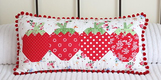 /strawberry social pillow