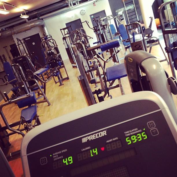 Gymmet i juli. Härligheten.