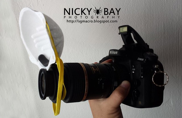 N95 Mask doubles as flash diffuser too!
