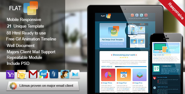 Flat Responsive Email Template