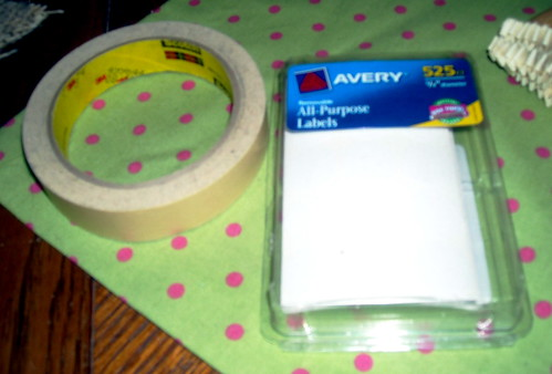 Masking Tape and Adhesive Circles