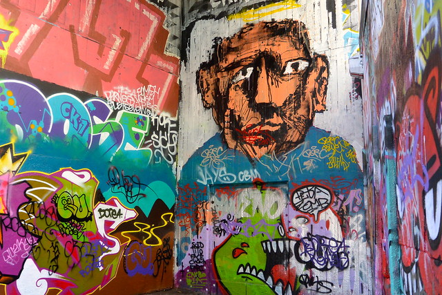 Graffiti under the South Bank centre, London