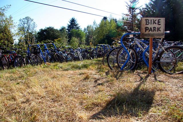 bike park sign