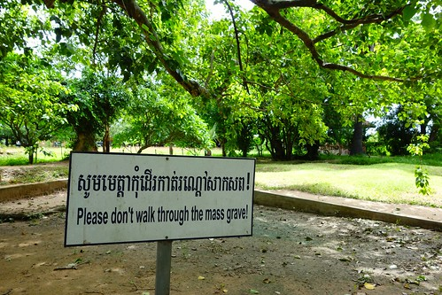 Sign at Killing Fields