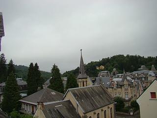 001 Uitzicht vanuit hotel in La Bourboule