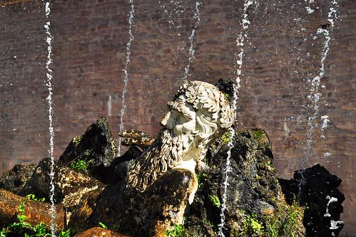 Heidelberg Schloss Schlossgarten Sandstein Vater Rhein