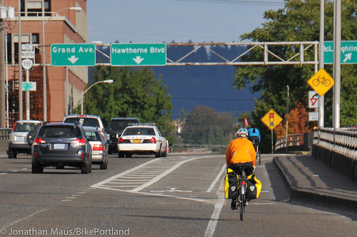 New bike lane on Hawthorne Bridge viaduct-1