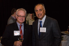 Dr. Alan Davis, President and Vice-Chancellor of Kwantlen Polytechnic University with Director, Randy Heed.