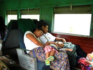 slow train sleeping family