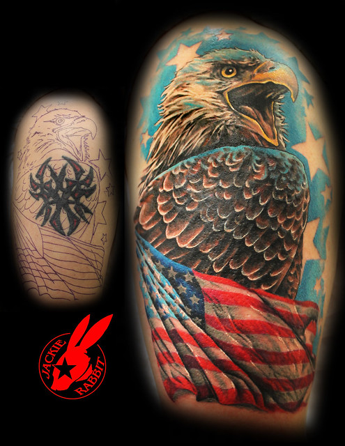 tattoo california tribal artist best up  Rabbit Flag Eagle Photo Cover Jackie Tattoo  Tribal Flickr  by