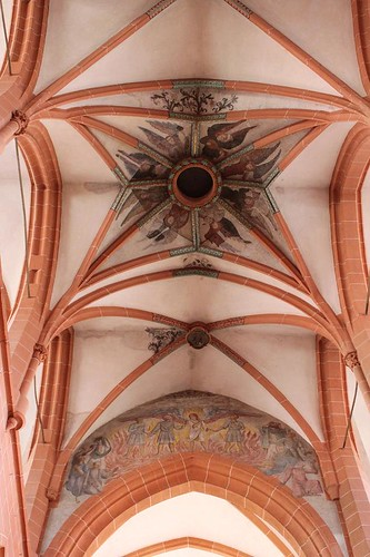 view of arches of church and ceiling