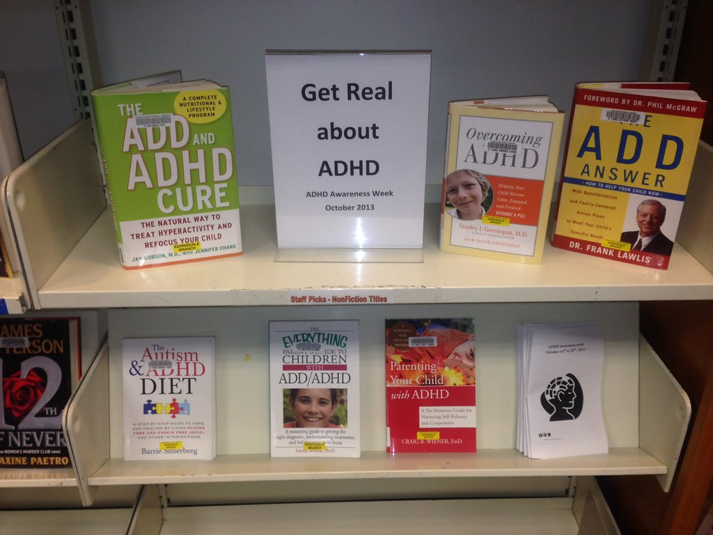Kerrisdale Library, Vancouver ADHD Awareness Week book display photo 2013 #4