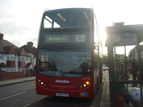 Metroline West TE1738 on Route E3, Gunnersbury Park