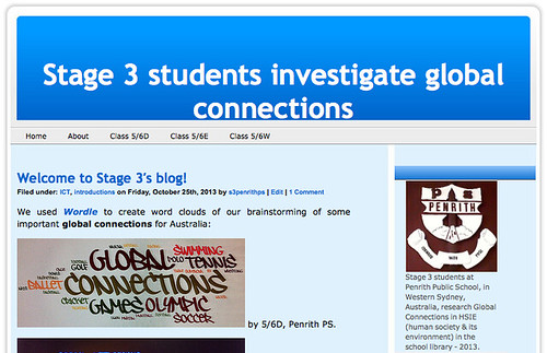 Stage 3 students investigate global connections - blog