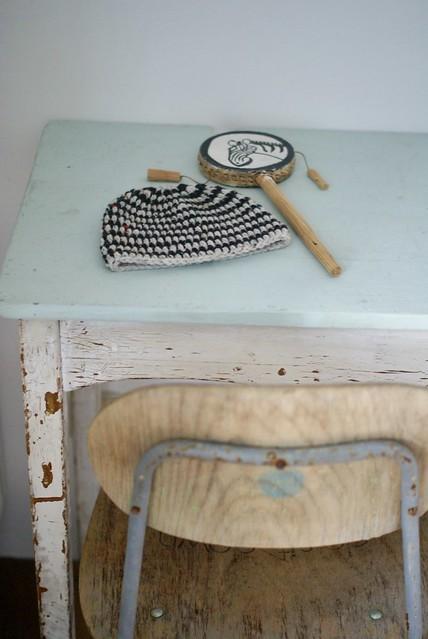 wood & wool wee beanie