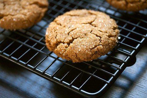 Chewy Spicy Ginger Cookies