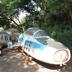 浜松市の喫茶店「飛行場」の裏手。