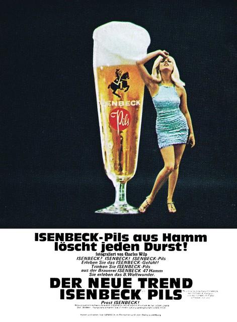 Wilip (Charles, DE) 1967 Isenbeck-Pils aus Hamm löscht jeden Durst (Isenbeck Pils, Hamm) Anzeige