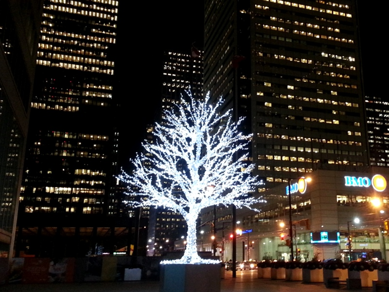 Financial District Christmas Tree