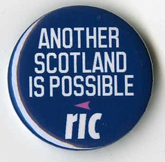 Radical Independence badge, November 2013