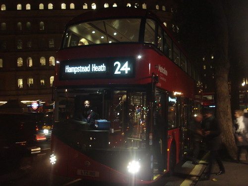 Metroline LT110 on Route 24, Trafalgar Square