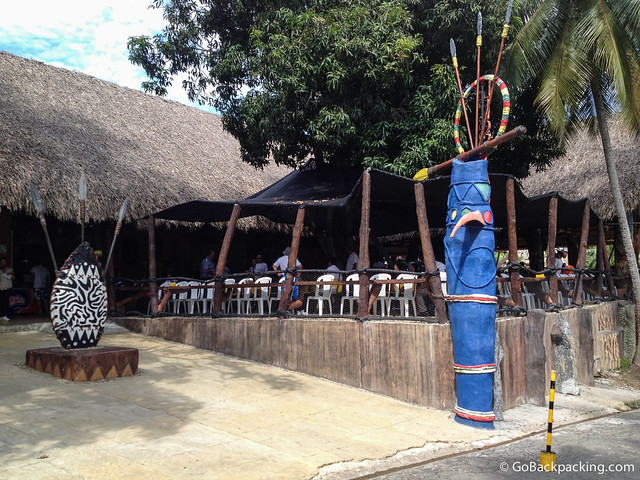 The African-themed cafeteria