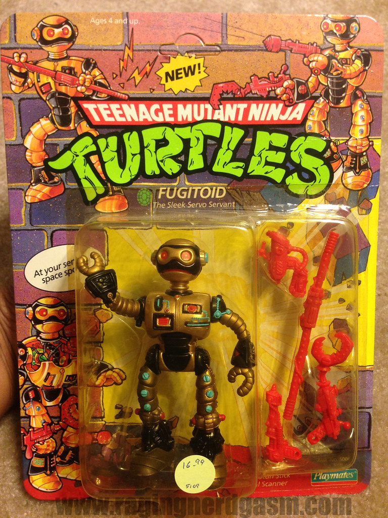 Vintage TMNT Teenage Mutant Ninja Turtle Carded Fugitoid