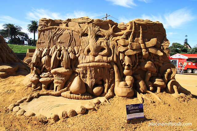 frankston sand sculpting enchanted garden