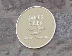 Photo of James Giles yellow plaque