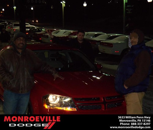 Happy Anniversary to Charles Edward Johnson on your 2013 #Dodge #Avenger from David Doody  and everyone at Monroeville Dodge! #Anniversary by Monroeville Dodge