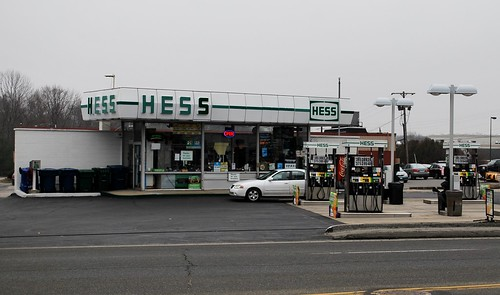 Hess gas station, Waterford, CT | Vintage-style Hess station… | Flickr