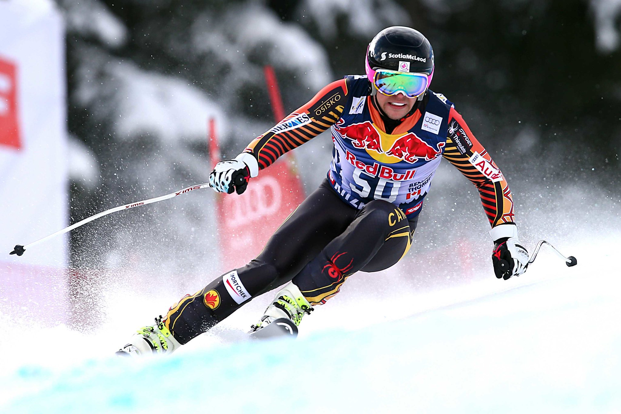 Ben Thomsen with a breakthrough 12th-place finish in the legendary Kitzbuehel downhill.
