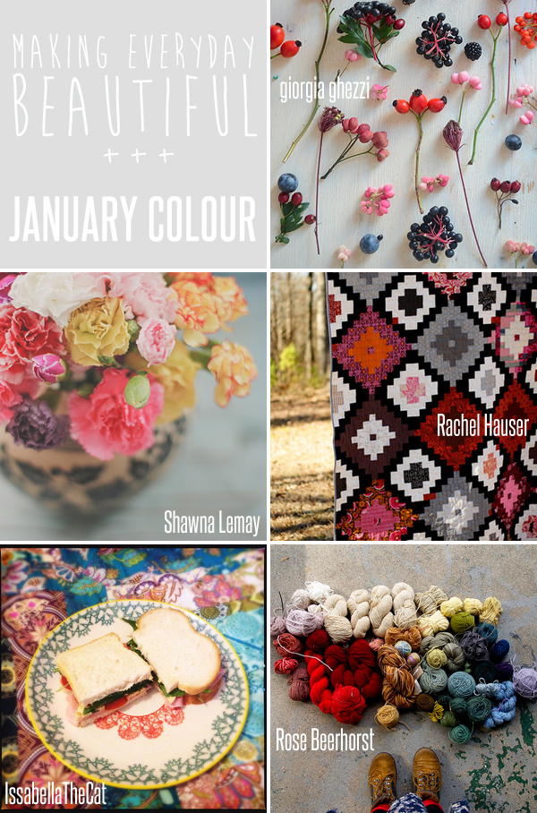 making everyday beautiful : January Colour | Emma Lamb