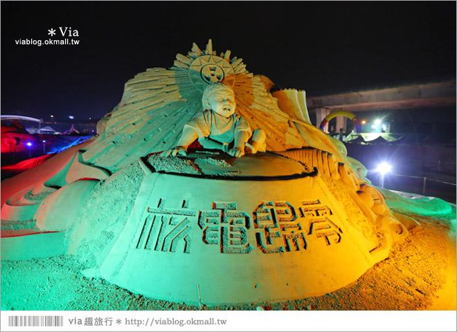【2014台灣燈會在南投】南投沙雕燈會~夜間點燈好浪漫!還有精彩光雕秀7