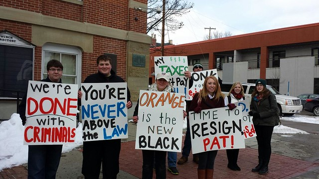 Protesters To Pat Kelly In Athens