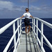 Small photo of Posing on the bowsprit, Sea Day