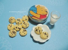 Dollhouse Miniature Chocolate Chip Cookies