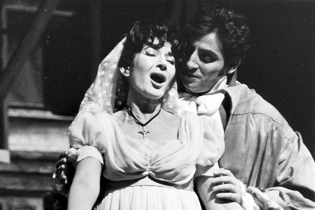 Maria Callas as Floria Tosca and Renato Cioni as Mario Cavaradossi in the Covent Garden Opera Company production of 'Tosca', 21 January 1964  © 1964 Royal Opera House/Donald Southern