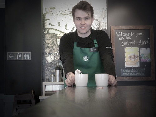 Starbucks. Southend. New look for our lovely store... Louie. 5 Mar'14