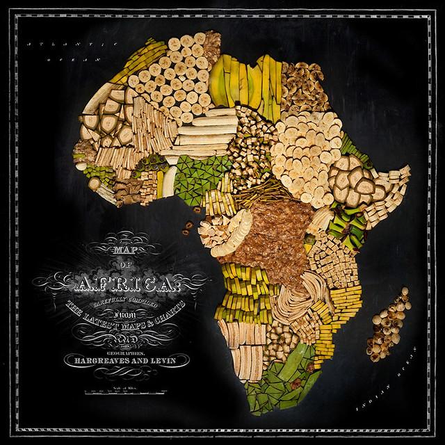 Mape država i kontinenata napravljene od njihove omiljene hrane! 13205118445_7f0e35d8b9_z