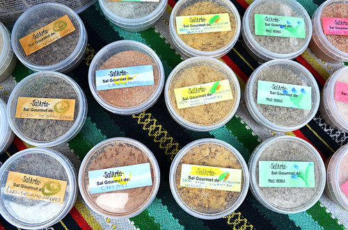Flavoured sea salts, La Paz market, Puerto de la Cruz