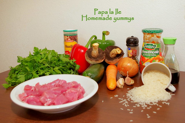 Orez cu legume si carne de curcan (2)