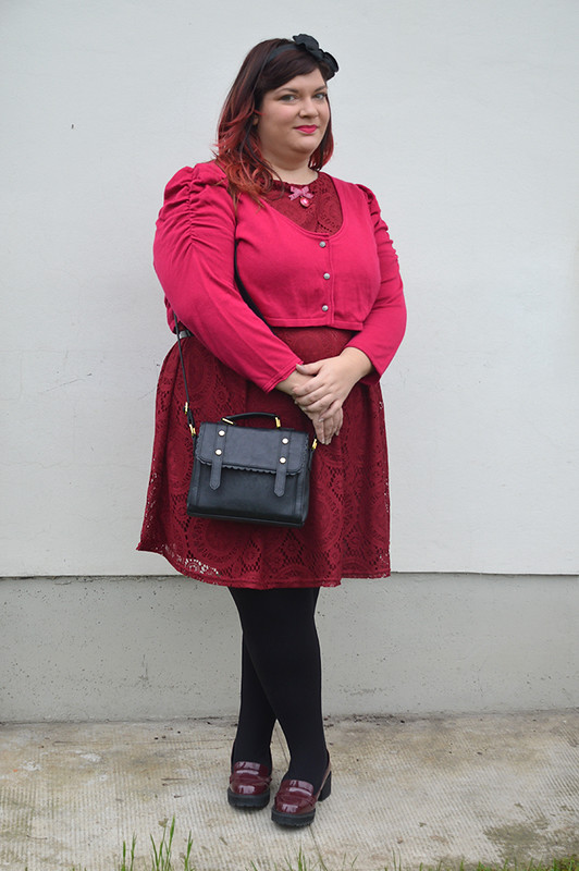 outfit plus size bordeaux e fuxia 1