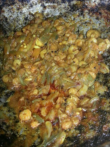 Food in Kerala, India - Chemeen Olarthiyathu - Stir-Fried Prawns/Shrimps