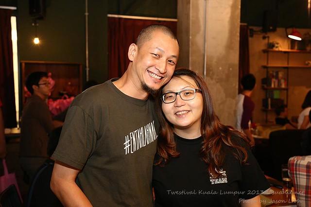Twestival Kuala Lumpur 2013 - Vernieman and Suanie