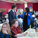 Justin meets residents of Papineau at a spaghetti luncheon for La Jarnigoine. April 15, 2014. --- Justin rencontre des citoyens de Papineau pendant un diner pour La Jarnigoine. avril 15, 2014.15 avril, 2014.
