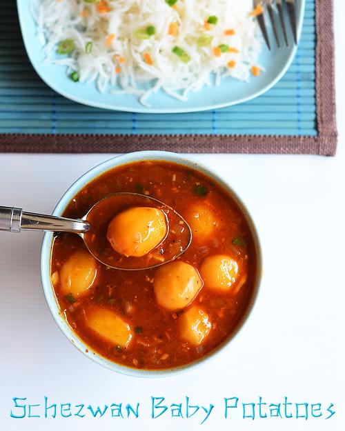 schezwan-baby-potato-gravy